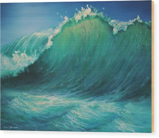 The Wave By Alan Zawacki Wood Print
