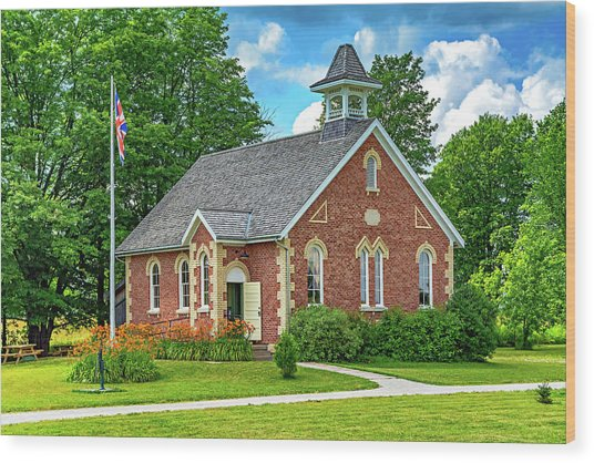The Way We Were - One Room School House Wood Print