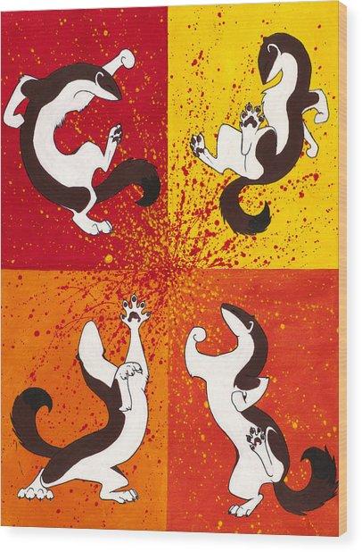 The Weasel Dance Wood Print