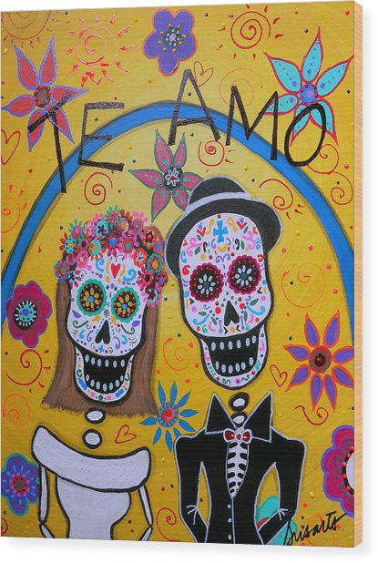 The Wedding Day Of The Dead Wood Print