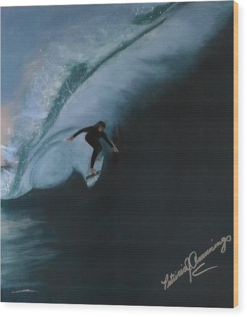 The Wedge - Shoot The Curl Wood Print