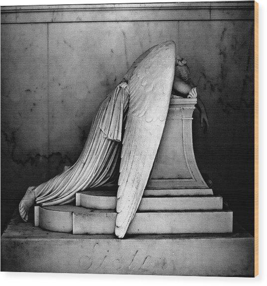 The Weeping Angel Wood Print
