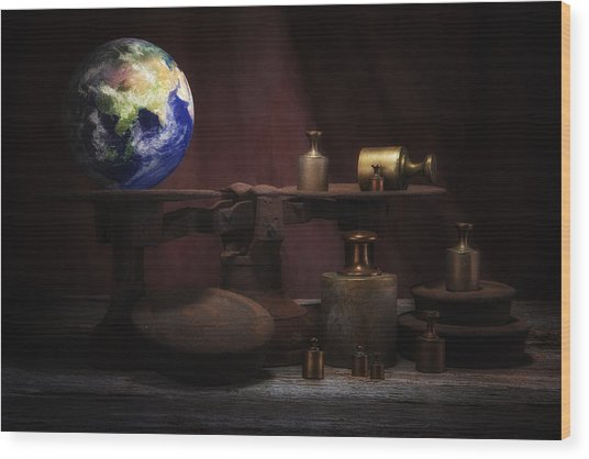 The Weight Of The World Wood Print