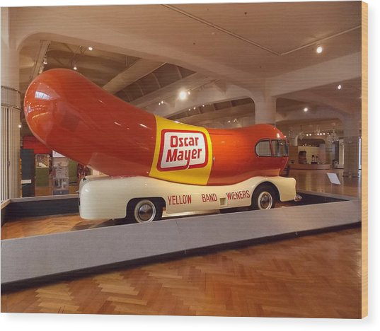 The Weinermobile 1 Wood Print