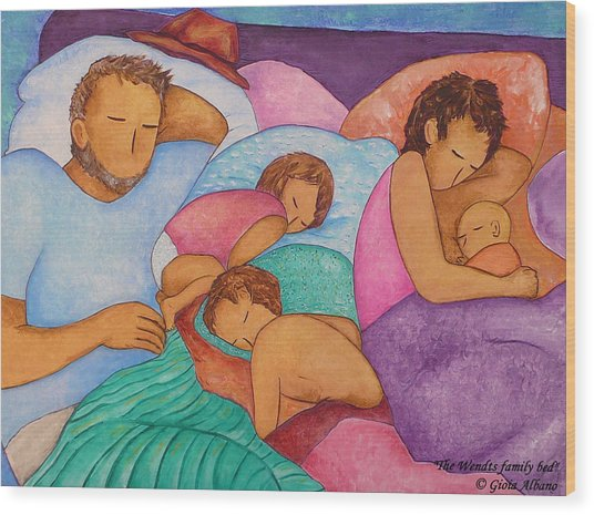 The Wendts Family Bed Wood Print