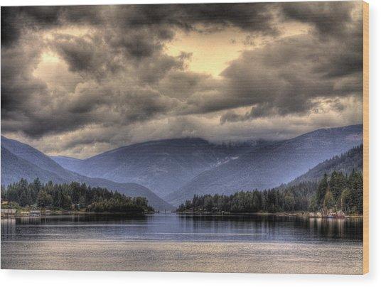 The West Arm Of Kootenai Lake Wood Print