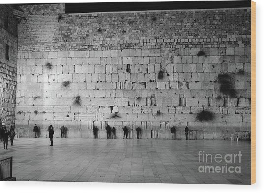 The Western Wall, Jerusalem 2 Wood Print