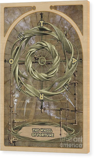 The Wheel Of Fortune Wood Print