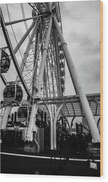 The Wheel Seattle  Wood Print