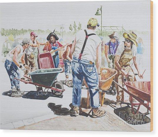 The Wheelsbarrow Band Wood Print