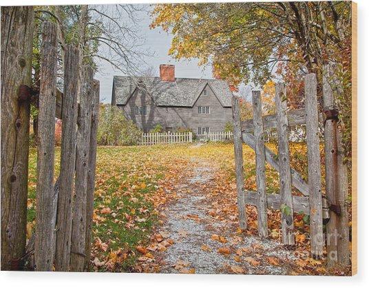 The Whipple House Wood Print