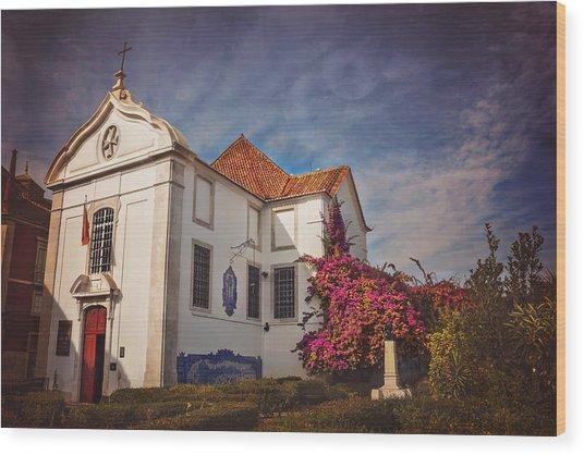 The White Church Of Santa Luzia Wood Print