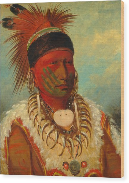 The White Cloud, Head Chief Of The Iowas Wood Print