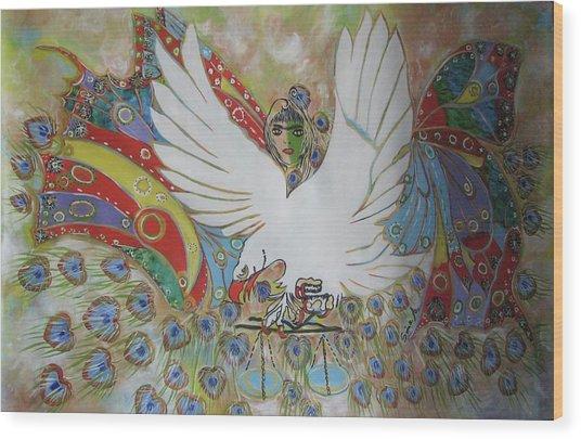 The White Eagle Wood Print