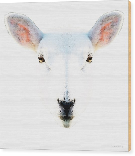The White Sheep By Sharon Cummings Wood Print