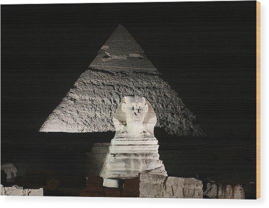 The White Sphynx Wood Print