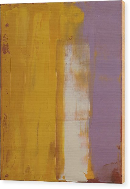The White Stripe Wood Print