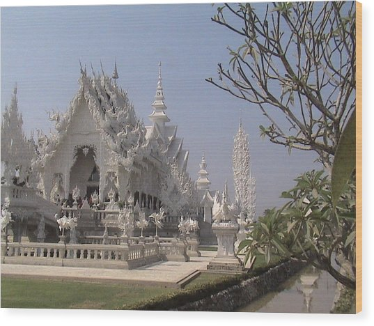 The White Temple Wood Print by William Thomas