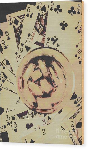 The Wild West Casino  Wood Print