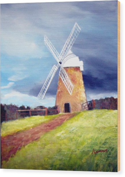 The Windmill Wood Print by Julie Lamons