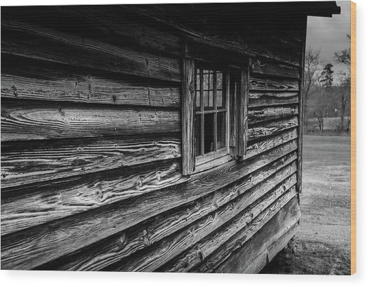The Window Wood Print
