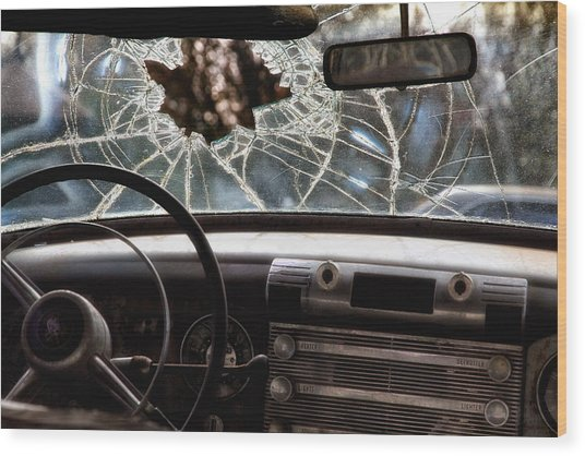 The Windshield  Wood Print