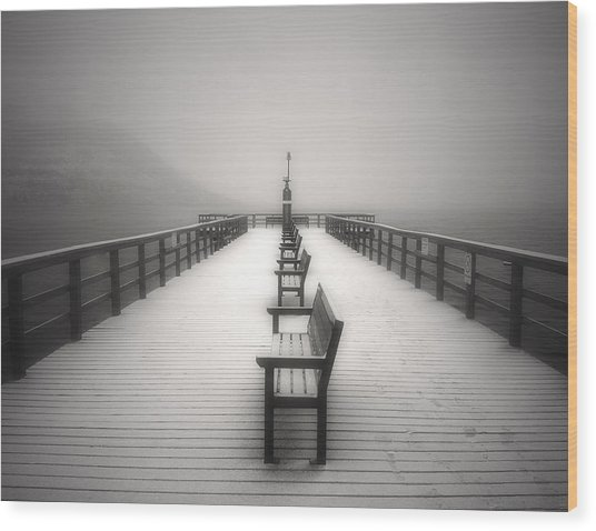 The Winter Pier Wood Print