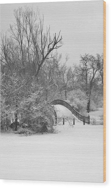 The Winter White Wedding Bridge Wood Print