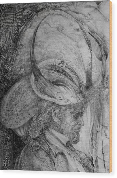 The Wizard Of Earth-sea Wood Print