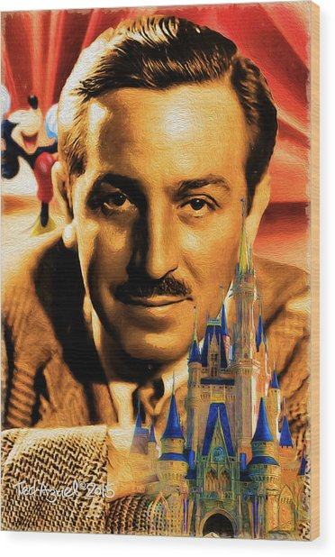 The World Of Walt Disney Wood Print