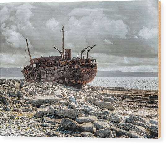 The Wreck Of Plassey Wood Print