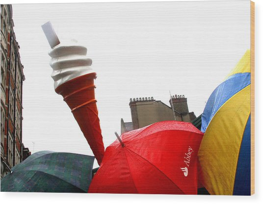 The Wrong Day For Ice Cream Wood Print by Jez C Self