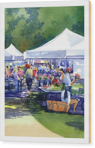 Theinsville Farmers Market Wood Print