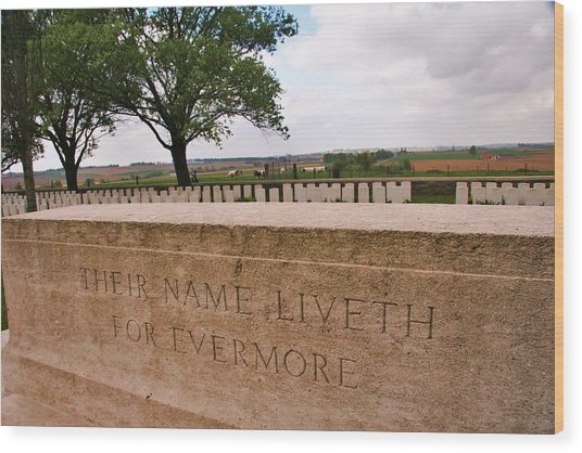 Their Name Liveth For Evermore Wood Print