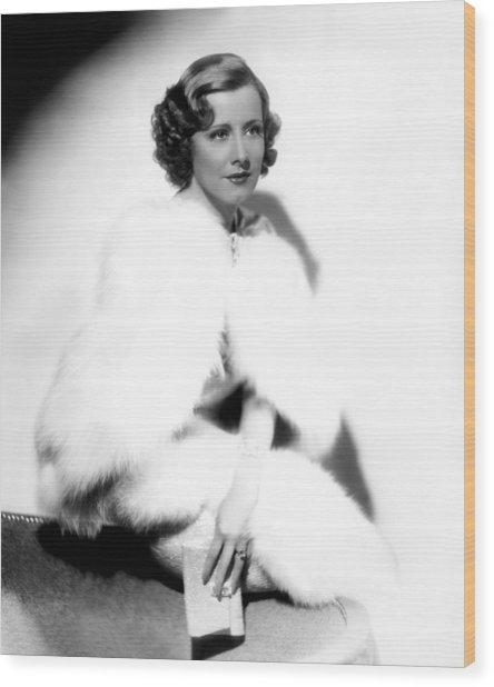 Theodora Goes Wild, Irene Dunne, 1936 Wood Print by Everett