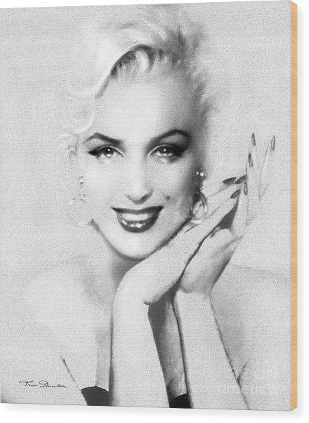 Theo's Marilyn 133 Bw Wood Print