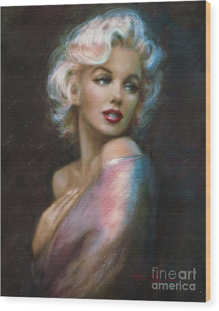 Theo's Marilyn Ww Blue Wood Print
