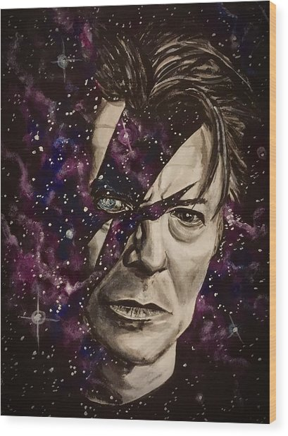 There's A Starman Waiting In The Sky Wood Print