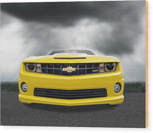 There's A Storm Coming - Camaro Ss Wood Print