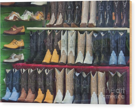 These Boots Are Made For Walkin'... Wood Print by Mark Hendrickson