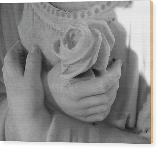 These Hands Wood Print by Barbara Palmer