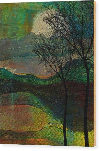 These Hills Wood Print