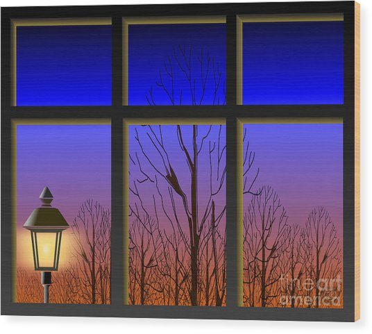 The Window II Wood Print