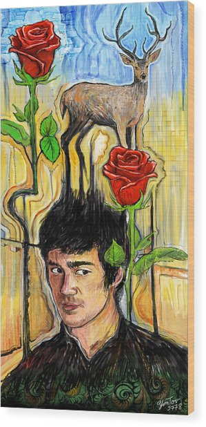 They Call Me Deer Flowers Wood Print