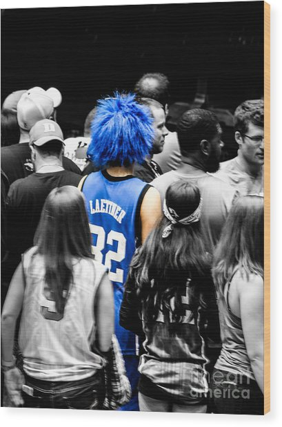 They Still Love Laettner Wood Print