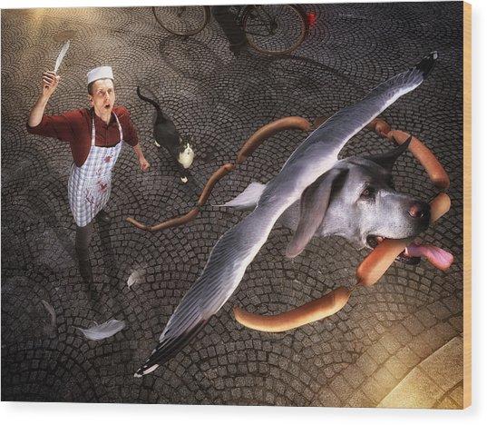 Thief! Wood Print by Christophe Kiciak