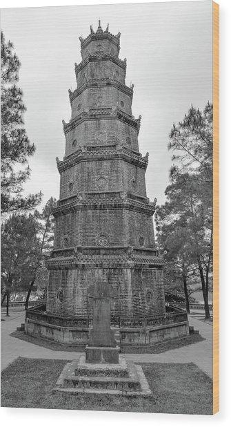 Thien Mu Pagoda Wood Print