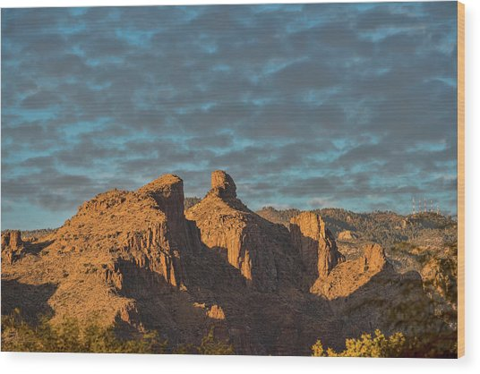 Wood Print featuring the photograph Thimble Peak During Golden Hour by Dan McManus