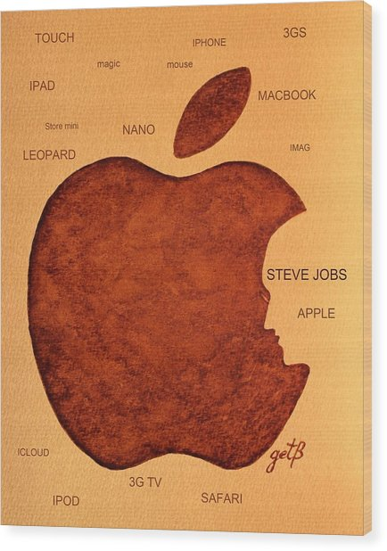Think Different Steve Jobs 2 Wood Print
