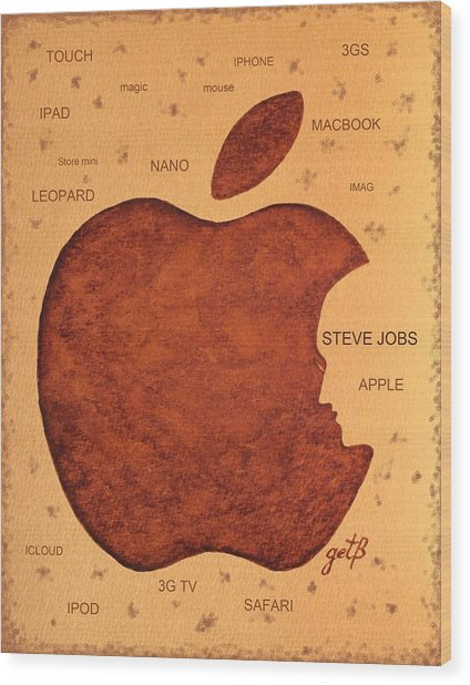 Think Different Steve Jobs  Wood Print